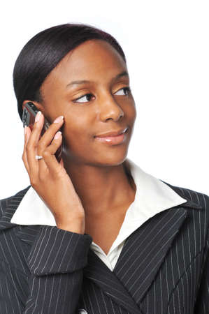 Young African American Businesswoman on the cell phone Stock Photo - 7796494