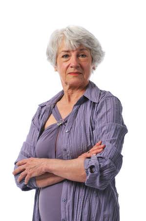 abuela: Activa dama Senior vistiendo traje de ba�o  Foto de archivo