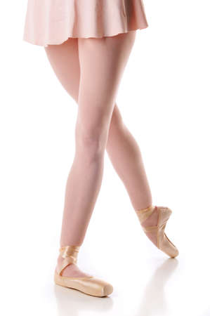 ballerina tights: Ballerinas shoes against a white background