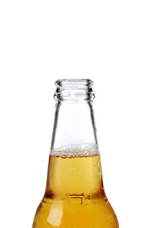 Beer botter close up isolated against a white background