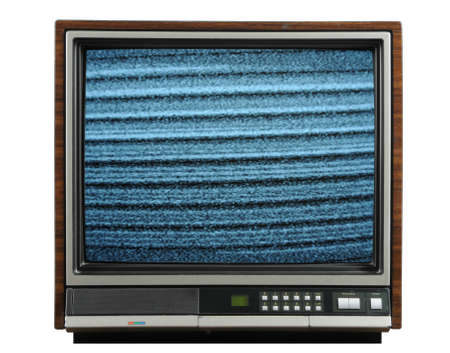 retro tv: Vintage television isolated on a white background Stock Photo