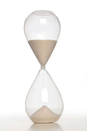 Sand Timer close up issolated on a white background
