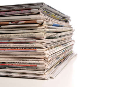 Pile of Newspapers isolated on a white background 版權商用圖片