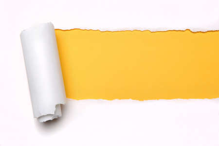 Ripper paper with space for text with yellow background photo