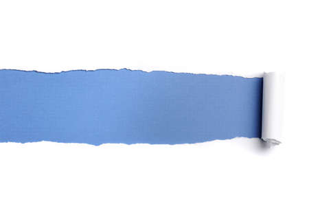 paper sheet: Torn Paper with space for text against a blue background