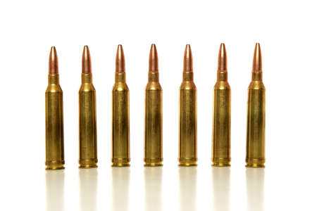 Bullets in line isolated on a white background