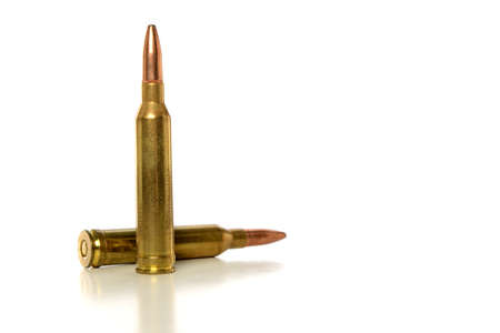 Two Bullets isolated on a white background