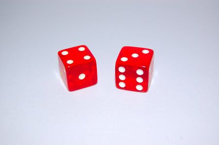 Dice have landed on lucky number seven. Stock Photo - 781205
