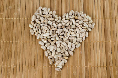 pinto beans: Heart with Pinto Beans