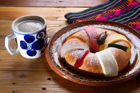 Hot chocolate and authentic kings day bread