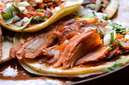 Traditional mexican food: tacos al pastor