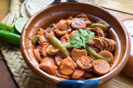 Traditional mexican sausage stew