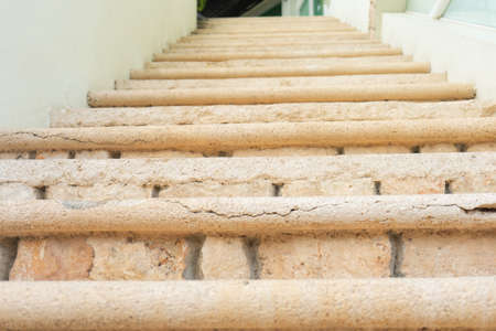 Old yellow stone stairs
