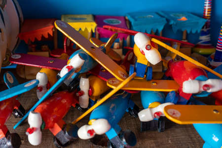 Old fashion mexican wood toys