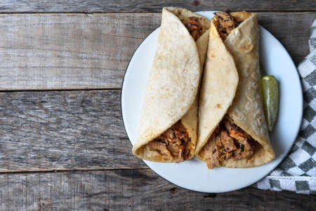 Traditional mexican tacos known as