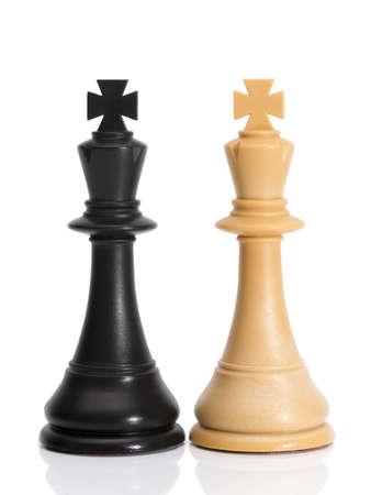 Chessmen Isolated on White Stock Photo