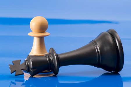 Chessmen on Blue photo