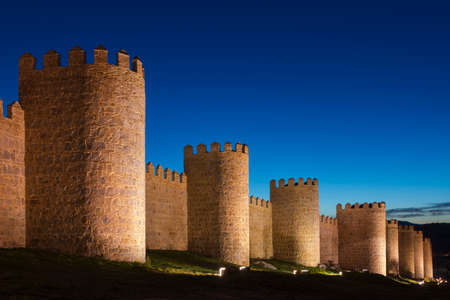 crenellated: Walls of Avila  Spain
