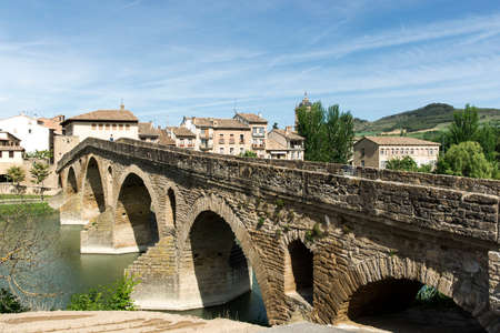 Puente la Reina Bridge over the Arga River. Puente la Reina, Navarra, Spain. XI Century. Romanesque. St. James Way. photo