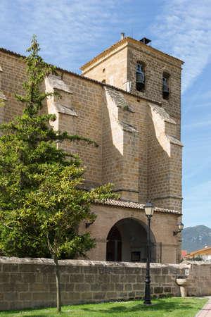 xv century: Nuestra Senora de la Asuncion Church, Villatuerta, Navarre. Spain. Gothic XV Century. St. James Way. Stock Photo