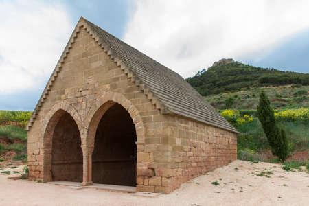 st james s: Medieval Fountain in Villamayor de Monjardin, Navarre. Spain. St. Jams Way.