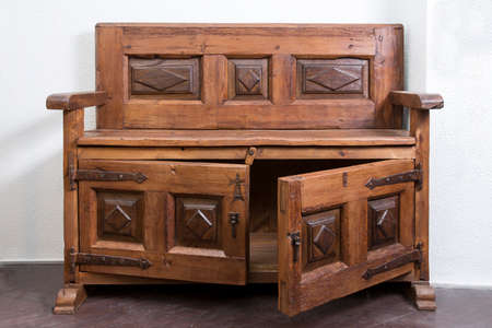 forniture: Old Wooden Piece of Forniture