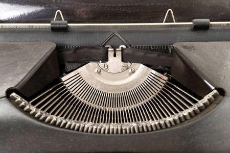 Antique Typewriter Isolated on White photo
