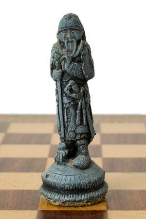 chessmen: Indonesian Terracotta Chessmen on the Chessboard