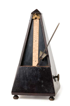 metronome: Old Metronome Isolated on White