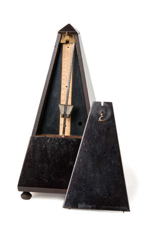 Old Metronome Isolated on White photo
