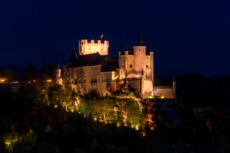 View of City of Segovia, Spain. Stockfoto