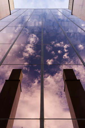 Modern building facade with reflections and colours. Stockfoto