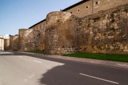 Walls of Leon, Spain. Roman ruins. Stockfoto