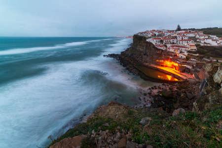 View of Azenhas do mar. Portugal. Stockfoto