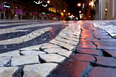 Typical Pavement of Lisbon. Portugal.