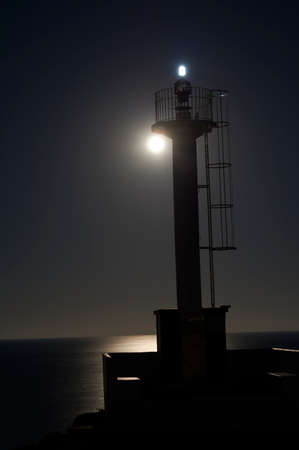 Village of Porto petro, Majorca, Balearic Islands, Spain, Europe,at night as seen from a sailboat in the Marina
