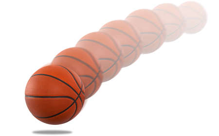 Basketball bouncing leaving a trail Stock Photo
