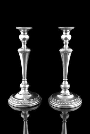 Candlestick on a black background Stock Photo