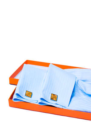 Orange silver cuff links and mens shirt sleeve detail