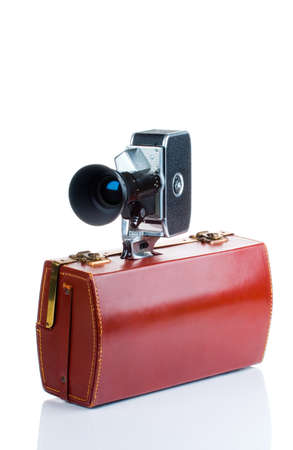 16mm: Vintage camera with case