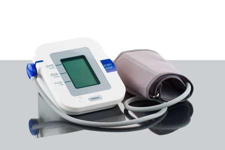 blood pressure monitor: Automatic digital blood pressure monitor Stock Photo