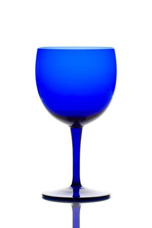 cobalt: Cobalt blue drinking glass