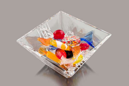 crystal bowl: Crystal bowl full of glass candy