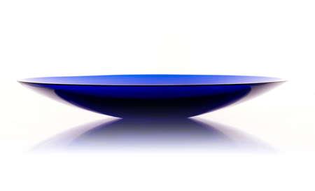 murano: Murano glass blue bowl Stock Photo