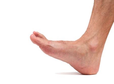 partes del cuerpo humano: Bare caminar pie masculino Foto de archivo