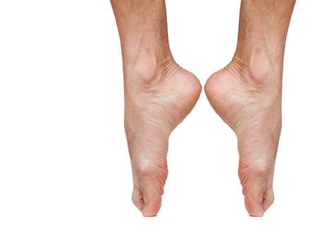 バレエ ダンサーの裸の足 写真素材