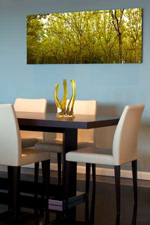Contemporary dining room detail Archivio Fotografico
