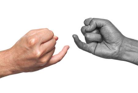 dedo me�ique: Dos hombres a punto de sellar su amistad