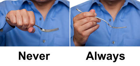 Proper way to hold a fork concept