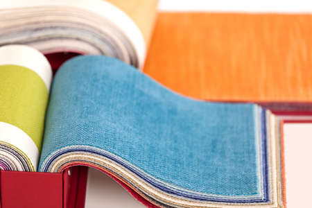 cloths: Upholstery fabric samples Stock Photo